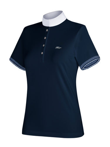 AS Frida Woman's Short Sleeve Polo in Blue
